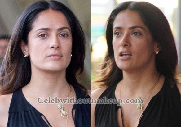 Salma Hayek Without Makeup