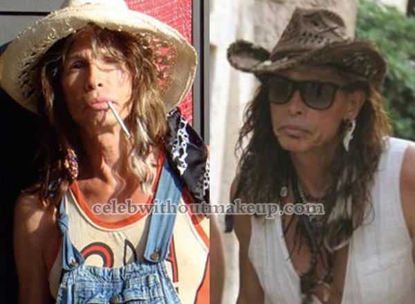 Steven Tyler without Makeup and Makeup