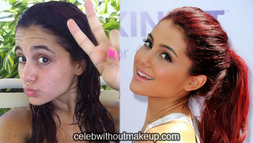 Ariana Grande No Makeup Comparison