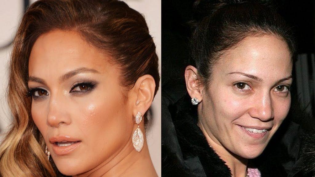 Jennifer Lopez without makeup