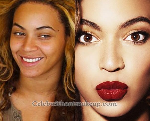 Beyonce no makeup