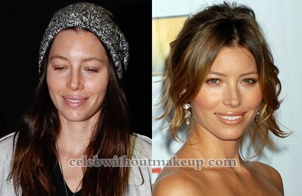 Jessica Biel Makeup On