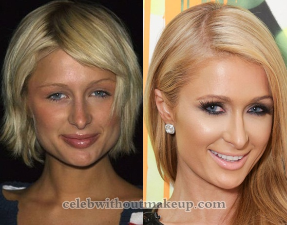 paris hilton makeup celeb without makeup