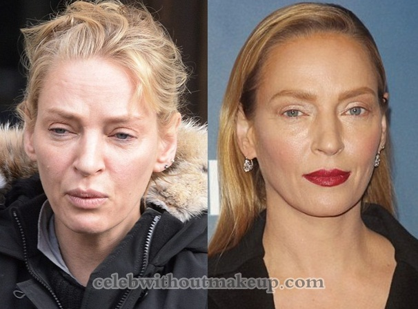 Uma Thurman No Makeup On