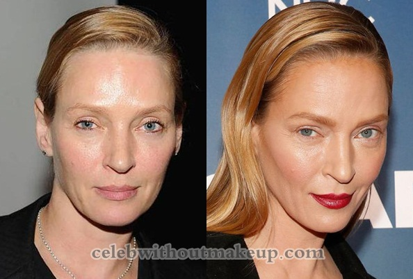 Uma Thurman No Makeup