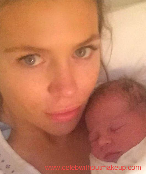 Abbey Clancy No Makeup with Family