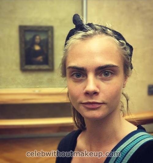 Cara Delevingne No Makeup Face