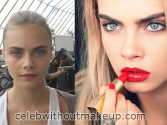 Cara Delevingne With and Without Makeup