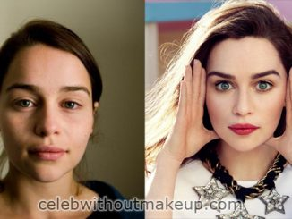 Emilia Clarke Before and After Makeup