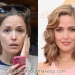 Rose Byrne Before and After Makeup