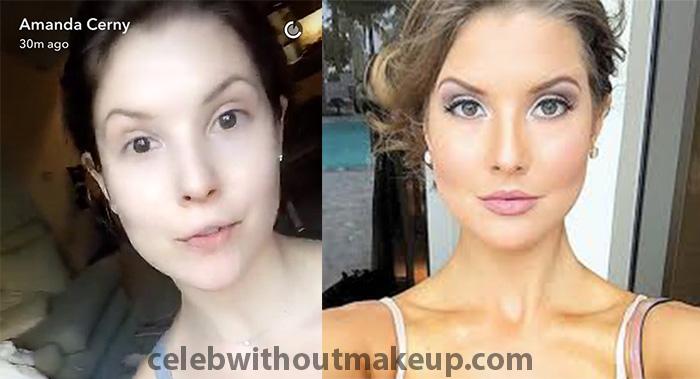 Amanda Cerny before and after makeup