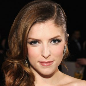 Anna Kendrick with makeup