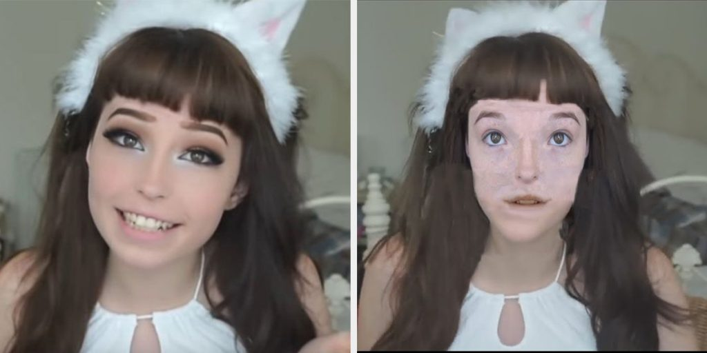 Belle Delphine no makeup parody