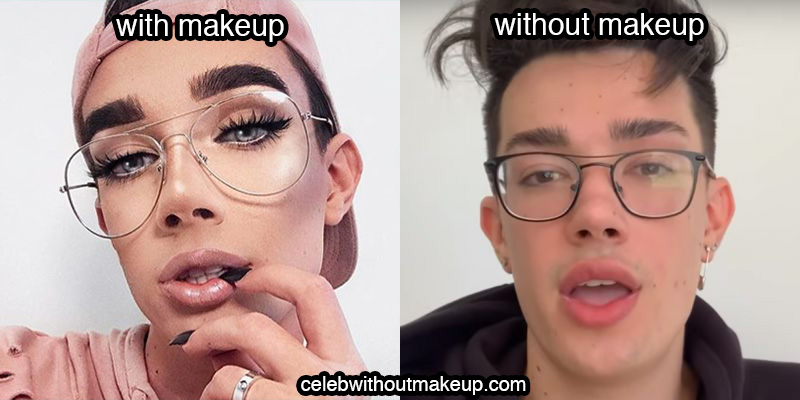 James Charles No Makeup