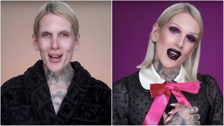Jeffree Star Without Makeup Comparison