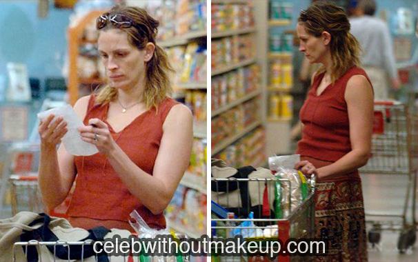 Julia Roberts without makeup