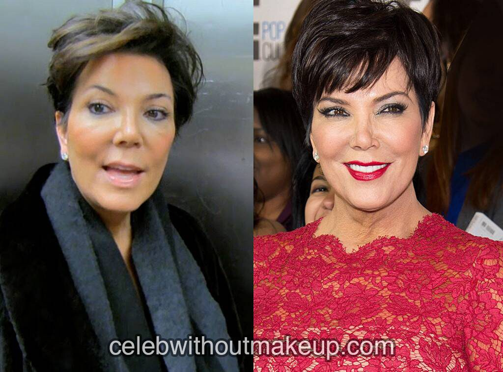 Kris Jenner no makeup