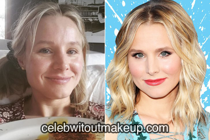Kristen Bell without makeup on