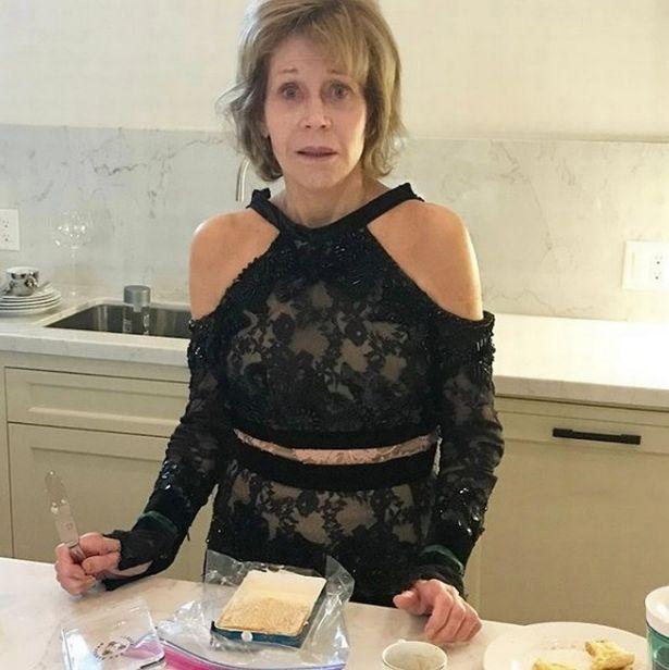 Jane Fonda with no makeup