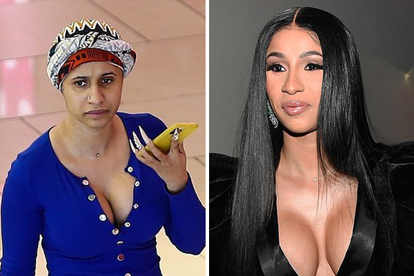 Cardi B without makeup