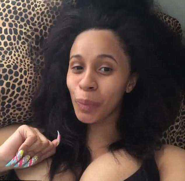 Cardi B without makeup on