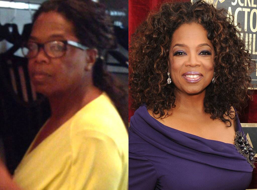 Oprah before and after makeup