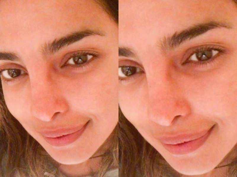 Priyanka Chopra without makeup selfie