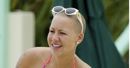 Amber Rose without makeup