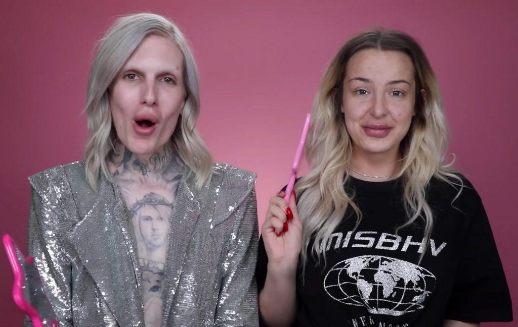 Jeffree Star and Tana Mongeau without makeup